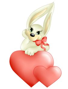 Free Bunny With A Heart And Bow Royalty Free Stock Photos - 17521478