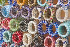Free Colorful Bangles At A Market Stall Royalty Free Stock Photos - 17521768