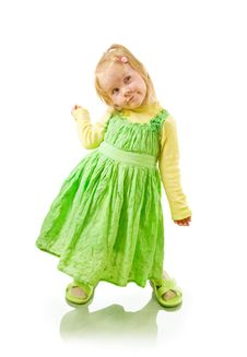 Free Little Cheerful Girl Coquette Royalty Free Stock Photos - 17521808