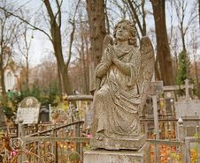 Free Angel On An Orthodox Cemetery Royalty Free Stock Photo - 17522615