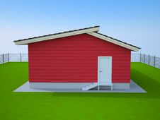 Free Red Small House Royalty Free Stock Images - 17522899