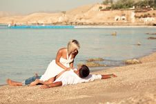 Free Couple On The Seaside Stock Photography - 17524062