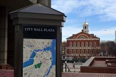 Free City Hall Plaza By Faneuil Hall Market Place Royalty Free Stock Photos - 17524658