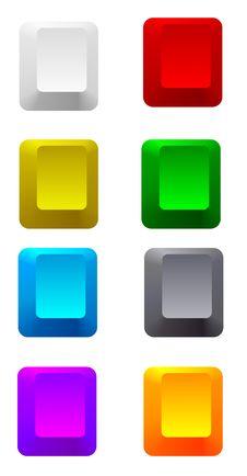 Free Colorful Blank Keys Stock Image - 17524921