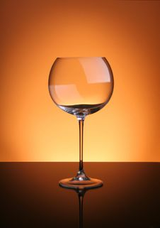 Free Glass With  Orange Gradient. Royalty Free Stock Photo - 17525105