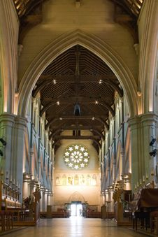 Free Gothic Cathedral Interior Stock Photography - 17525342