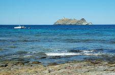 Island Near Corsica, Sea View Stock Images