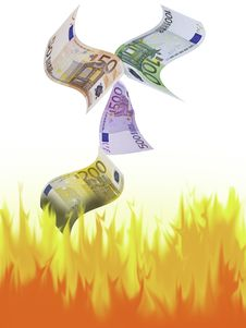 Free Money To Burn Royalty Free Stock Photo - 17527035