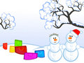 Free Snowmans-and-buying Royalty Free Stock Images - 17532739