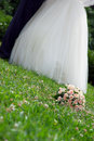 Free Bridal Bouquet Lies On The Grass Royalty Free Stock Photos - 17533698