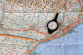 Free Map, Pencil And Curvimeter Royalty Free Stock Photo - 17539105