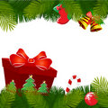 Free Christmas Decoration With Gift Stock Photo - 17539530