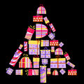 Free Gift Boxes In The Shape Of Tree Stock Photos - 17539613