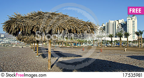 Free View On Resort Hotels In Eilat City, Israel Stock Image - 17535981