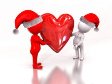 Free Xmas Heart Stock Photos - 17530193