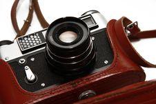 Free Close-up Film Camera Isolated On White Royalty Free Stock Photo - 17530295