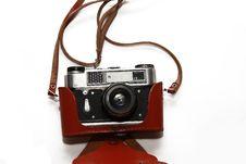 Free Close-up Retro Film Camera Isolated On White Royalty Free Stock Image - 17530306