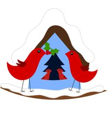 Free Christmas In Bird Family Stock Photography - 17530682