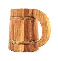 Free Wooden Beer Mug Royalty Free Stock Photo - 17530915