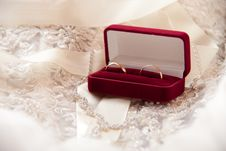 Two Wedding Rings In A Box Stock Photography