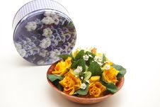 Free Bunch Of Flowers In Bowl Stock Photo - 17532040