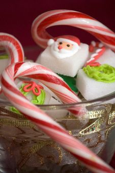 Free Christmas Sugar Cubes Close-Up Royalty Free Stock Images - 17532059