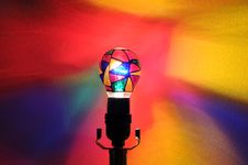 Free Rainbow Party Lightbulb Royalty Free Stock Image - 17532506