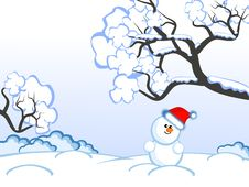 Free Christmas-snowman Royalty Free Stock Photos - 17532628