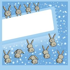 Free Winter Frameworks (hares) Stock Photos - 17532813