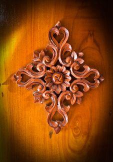 Free Thai Art Of Wood. Stock Photos - 17533153