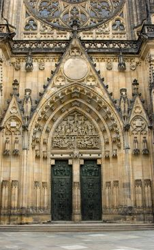St Vitus Cathedral Entrance Royalty Free Stock Image