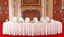 Free Table Set For A Special Occasion Stock Photography - 17534572