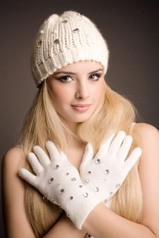 Free Fashion Winter Portrait Stock Image - 17534701