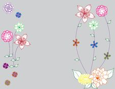 Abstract Flower Illustration Flower Spring Blue Royalty Free Stock Photography