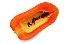 Free Ripe Papaya Fruit Isolated Royalty Free Stock Image - 17535486