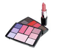 Free Cosmetics. Eye-shadow And Lipstick. Royalty Free Stock Photo - 17535945