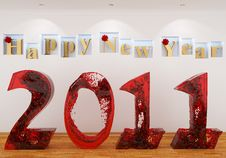 Free Happy New Year 2011 From The Red Water Stock Photos - 17536473