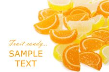 Free Fruit Candy Isolated On The White Royalty Free Stock Photos - 17536568