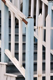 Free Wooden Stair And Rail Fence Royalty Free Stock Image - 17536626