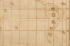 Old Map Of The South Ameria Stock Photos
