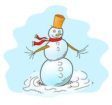 Free Snowman Royalty Free Stock Photos - 17537058