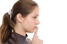 Free Young Woman With Finger On Lips Stock Photos - 17537273