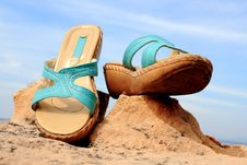 Free Shoes With The Sky.. Stock Images - 17537274