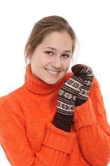 Free Winter Young Woman Stock Photo - 17537280