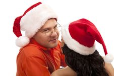 Free Lovely Christmas Couple Royalty Free Stock Image - 17537516