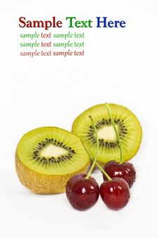 Free Kiwi And Cherry Royalty Free Stock Photography - 17537517