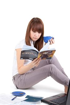 The Student Prepares For Examinations Stock Images