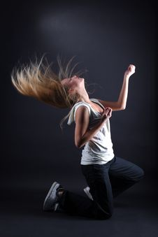 Free Modern Dancer In Action Royalty Free Stock Photography - 17538017