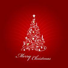 Free Vector Christmas Tree. Royalty Free Stock Photos - 17538208