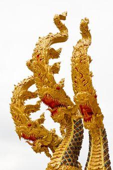 Free Naga In The Thai Temple Royalty Free Stock Photos - 17538388